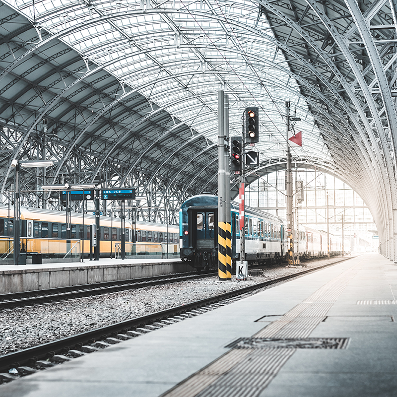 Header Image ACO Solutions for Train stations and platforms
